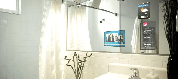 Le miroir connect le nouveau jouet des enseignes de v tements - Miroir salle de bain connecte ...