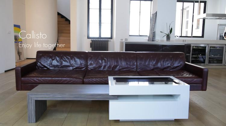 callisto la premi re table fran aise connect e. Black Bedroom Furniture Sets. Home Design Ideas