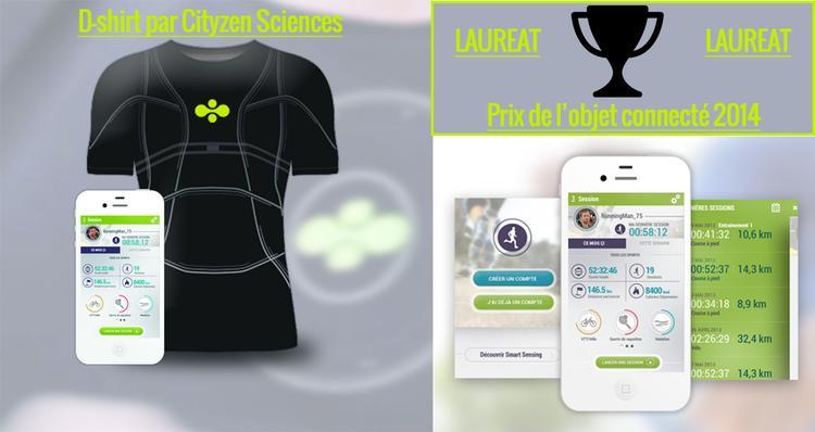 maillot d shirt cityzen sciences prix objet connect 2014. Black Bedroom Furniture Sets. Home Design Ideas