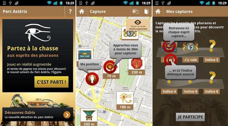 Application smartphone du parc Astérix !