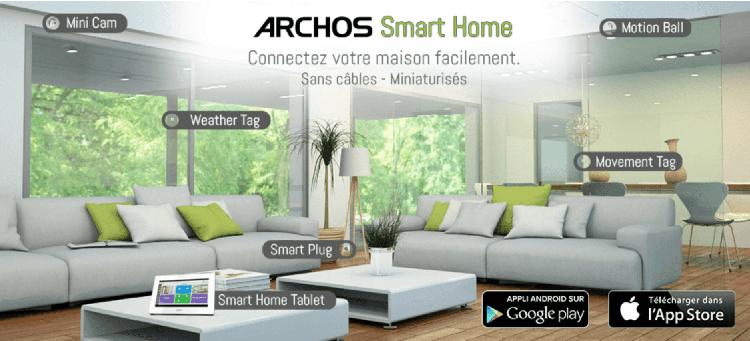 archos lance smart home objets connect s pour la maison. Black Bedroom Furniture Sets. Home Design Ideas