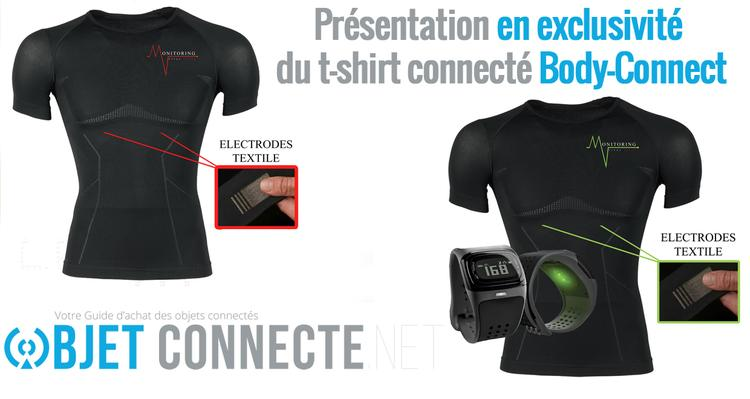 t shirt connecté body connect