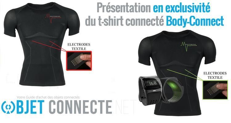t shirt connecté body connect