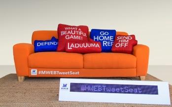 MWEB Tweet Seat : un canapé connecté pour le football !