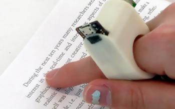 Le Finger Reader : une bague qui permettra aux malvoyants de lire un livre.
