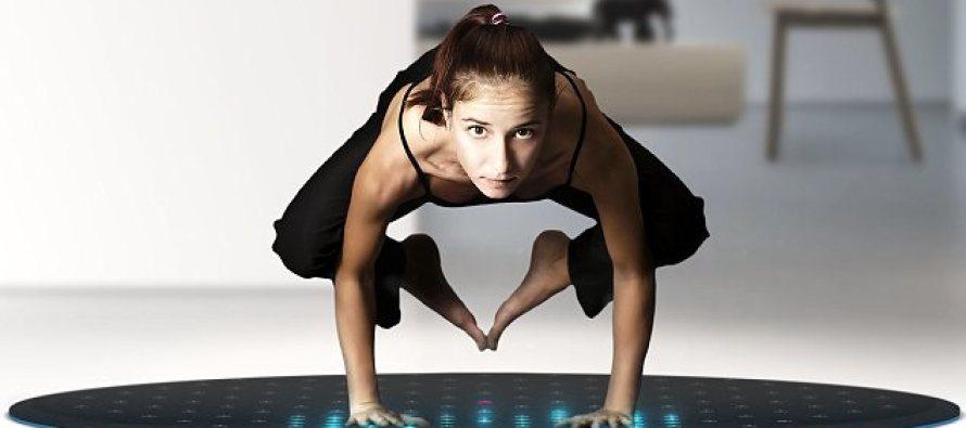 tera un tapis connect pour le yoga et les sports de fitness. Black Bedroom Furniture Sets. Home Design Ideas