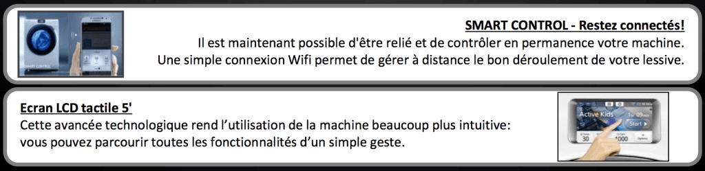Lave linge connecté samsung - application wifi