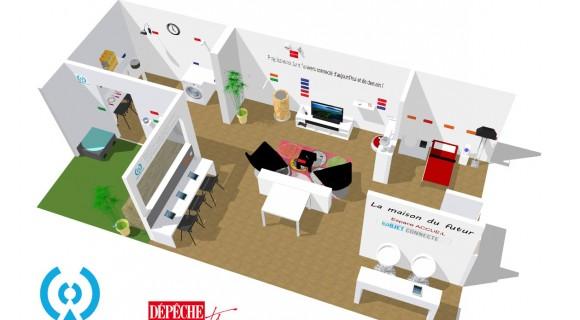 visiter la maison connect e cr e par. Black Bedroom Furniture Sets. Home Design Ideas