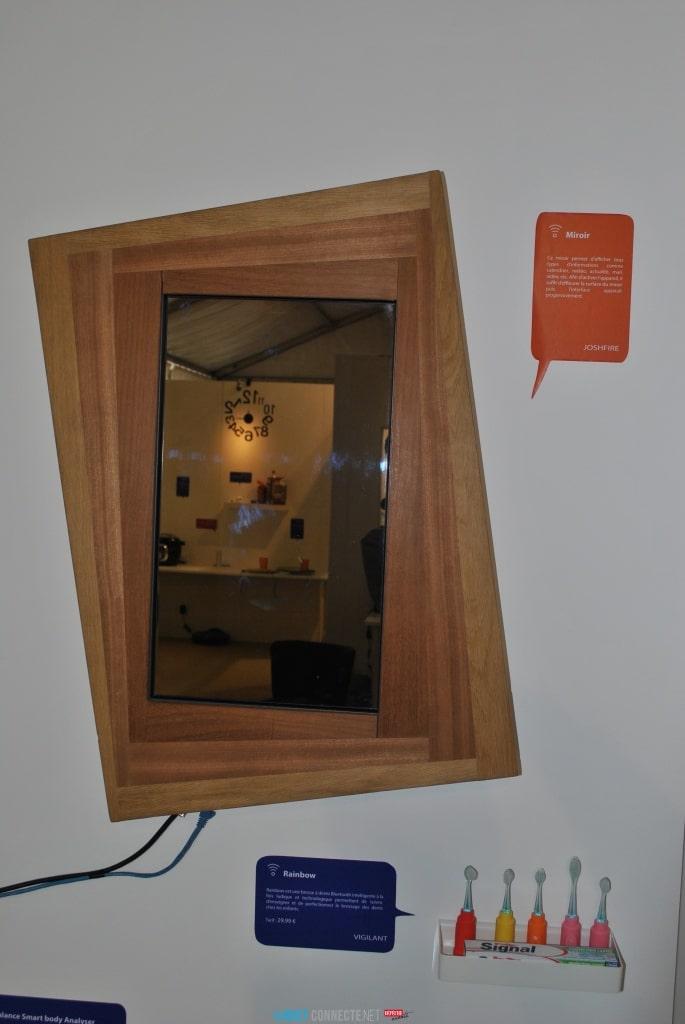 Miroir connecté Objetconnecte.net - Maison du Futur