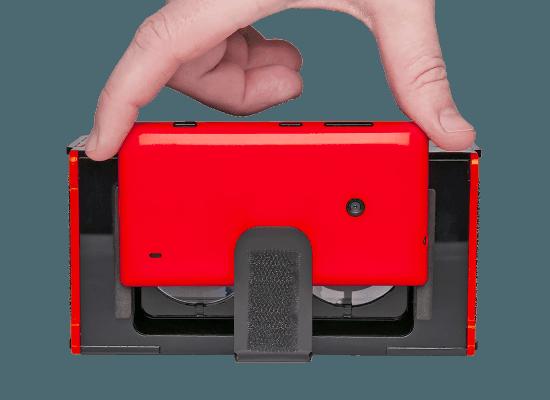l'encoche du Vrizzmo est faite pur accueillir les smartphones