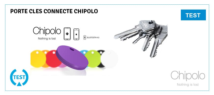 test chipolo porte clés connecté
