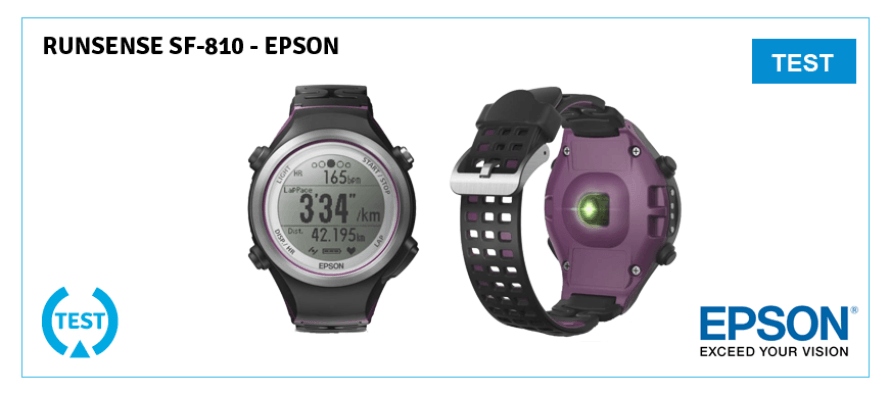 test de la runsense sf 810 d epson une montre connect e pour runner. Black Bedroom Furniture Sets. Home Design Ideas