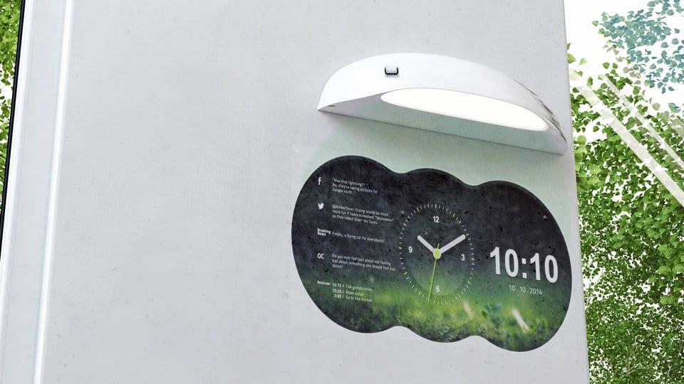 La Coolest Clock projette sur votre mur plusieurs informations utiles