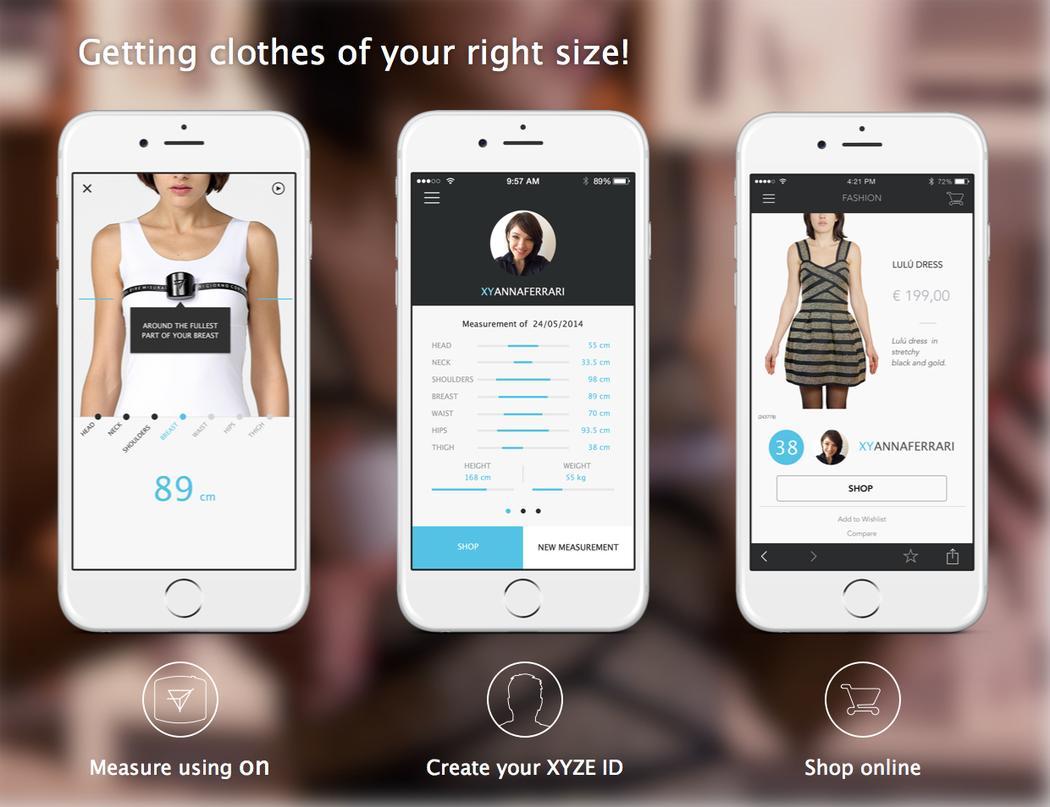 On le mètre-ruban connecté qui vous aide à choisir vos vêtements à la bonne taille