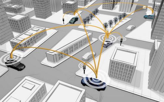 Transmission de données aux intersections à la voiture
