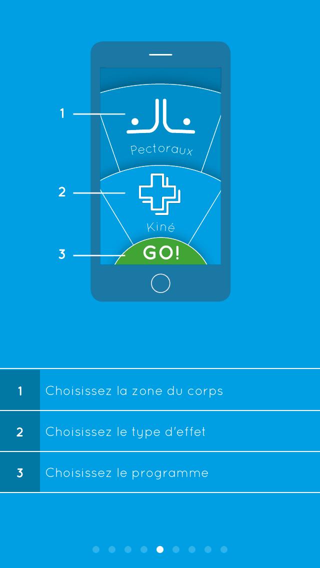 Application mobile du Bluetens
