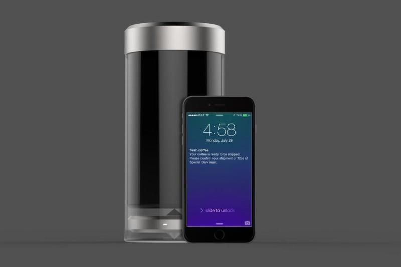 le fresh coffee jar votre votre bo te caf connect e. Black Bedroom Furniture Sets. Home Design Ideas