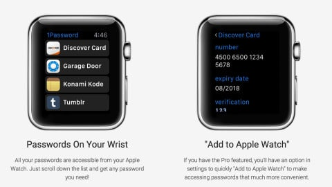 1password top applications apple watch
