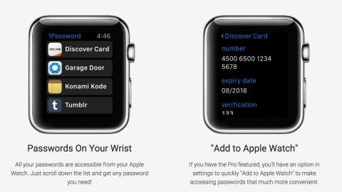 1password top applications apple watch