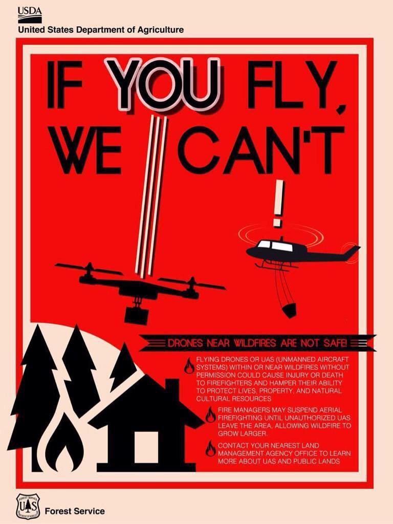 drones incendie californie
