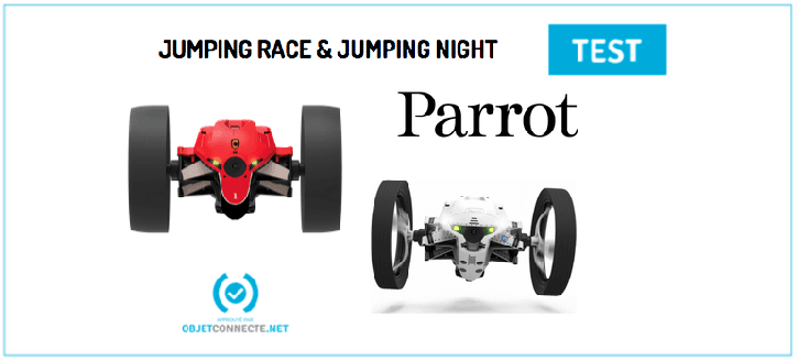 Minidrones 2 jumping night et jumping race Parrot
