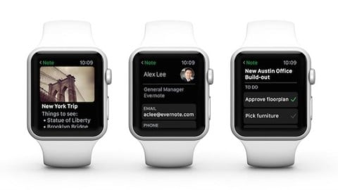 Evernote top applications apple watch