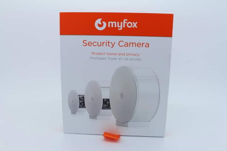 MyFox home alarm security camera unboxing devant