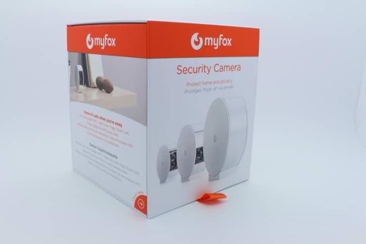 MyFox home alarm camera unboxing devant côté