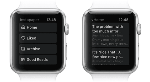Instapaper top applications apple watch