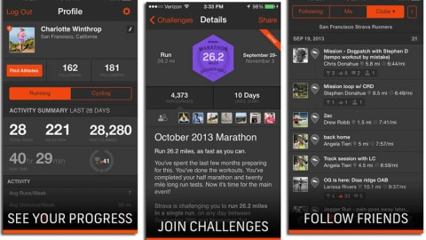 Strava top applications apple watch