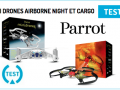 Test du mini drone Airborne Night et Airborne Cargo de Parrot