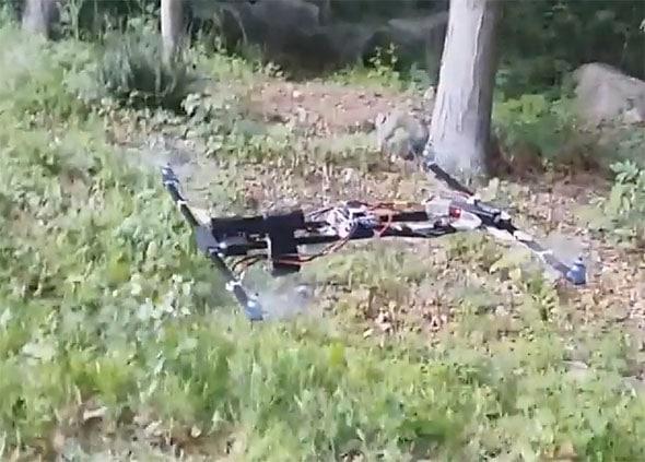 flying gun drone