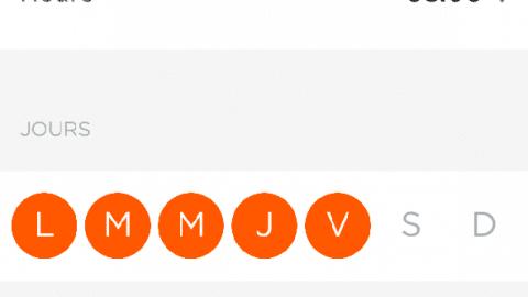 MyFox home alarm appli agenda choix
