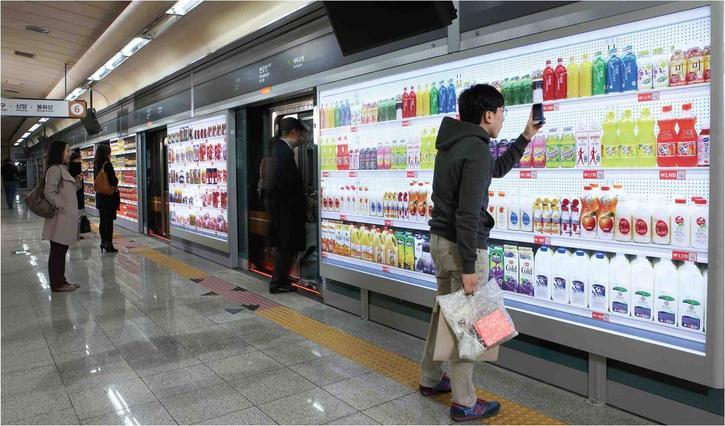 objets connectés supermarchés