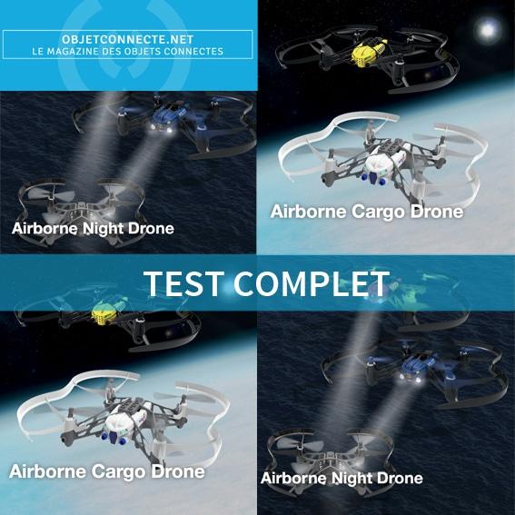 test parrot minidrone airborne cargo drone airborne night drone