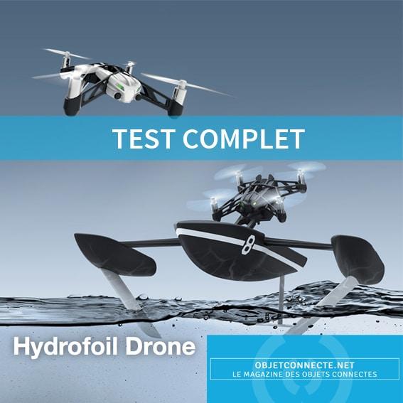 test parrot minidrone hydrofoil drone