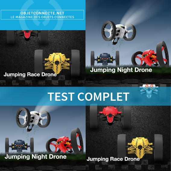 test parrot minidrone jumping race drone jumping night drone