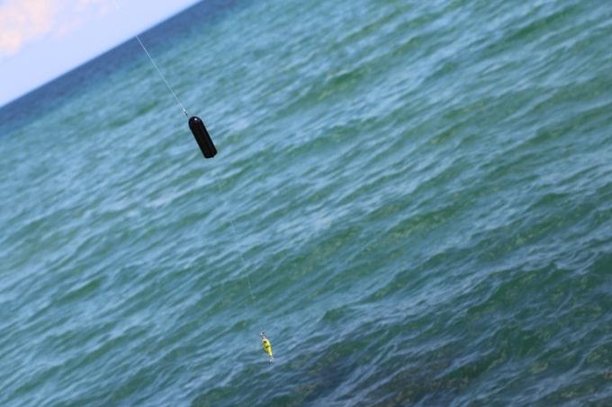 La nouvelle GoFish Cam est fixable sur le fil de pêche
