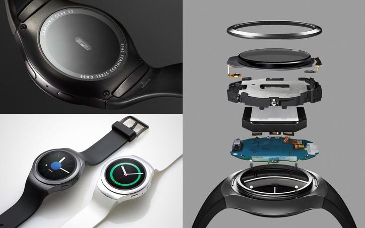 Les composants de la montre connectée Samsung Gear s2