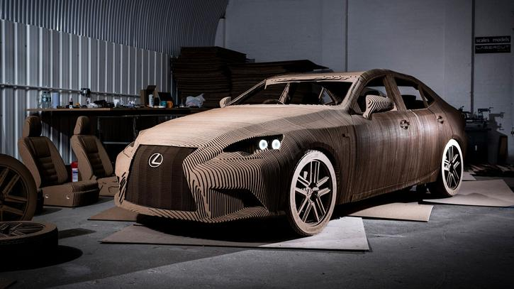 lexus fabrique une voiture lectrique en carton. Black Bedroom Furniture Sets. Home Design Ideas