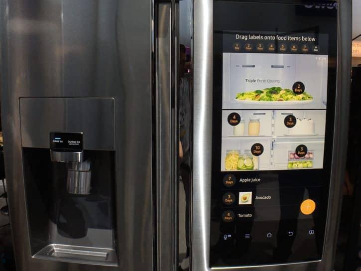 Ces un cran tactile sur le prochain frigo samsung - Cuisiner avec ce que l on a dans le frigo ...