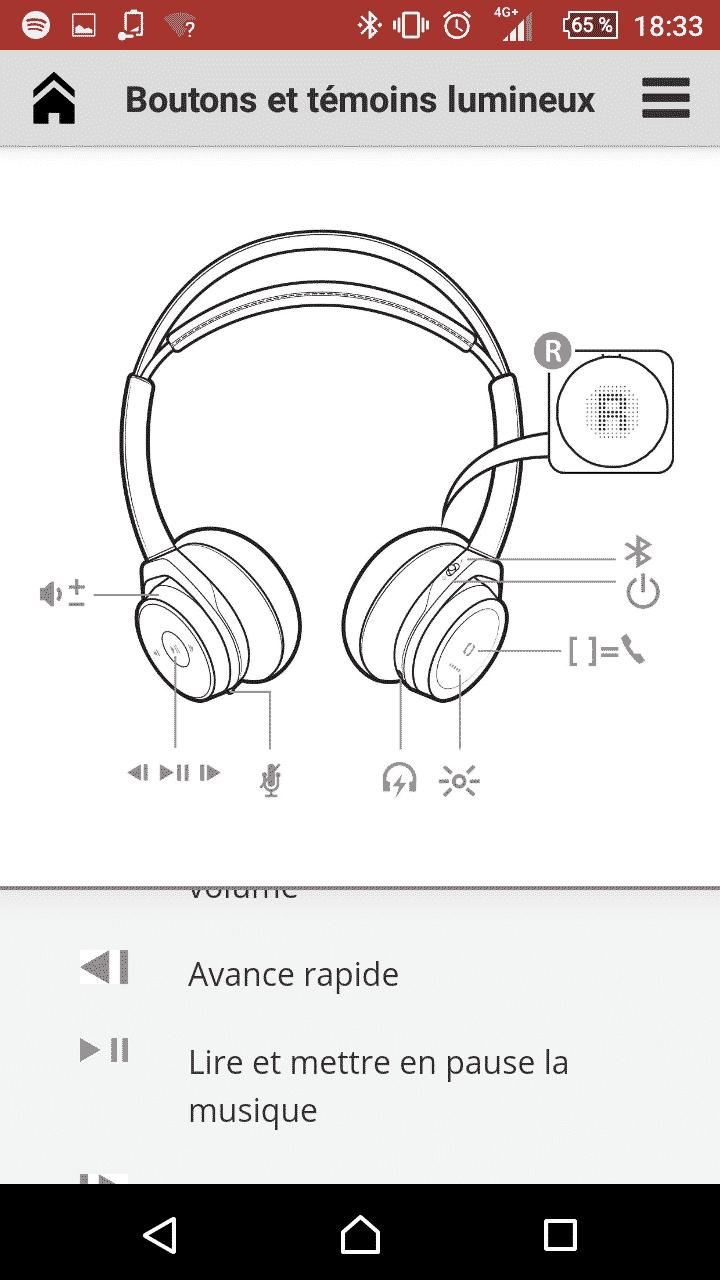 Casque connecté BackBeat Sense Plantronics im8
