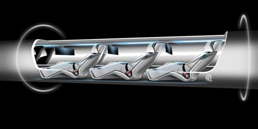 Train Hyperloop im3 capsule siège passager