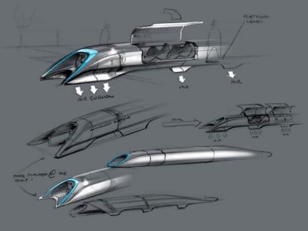 Train Hyperloop im7 design dessin