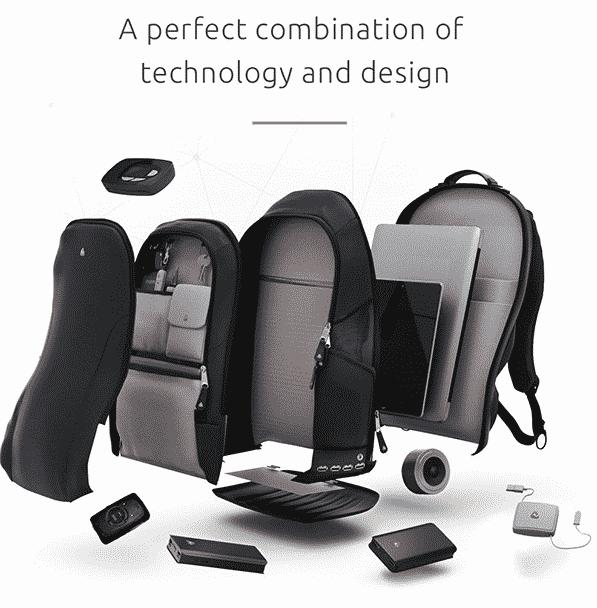 iback pack, design et technologie pour un sac connecté