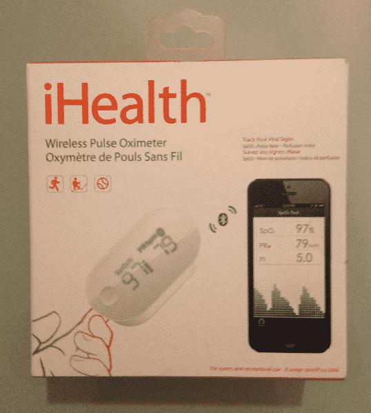 iHealth Oxymètre PO3 test unboxing boîte vue haut