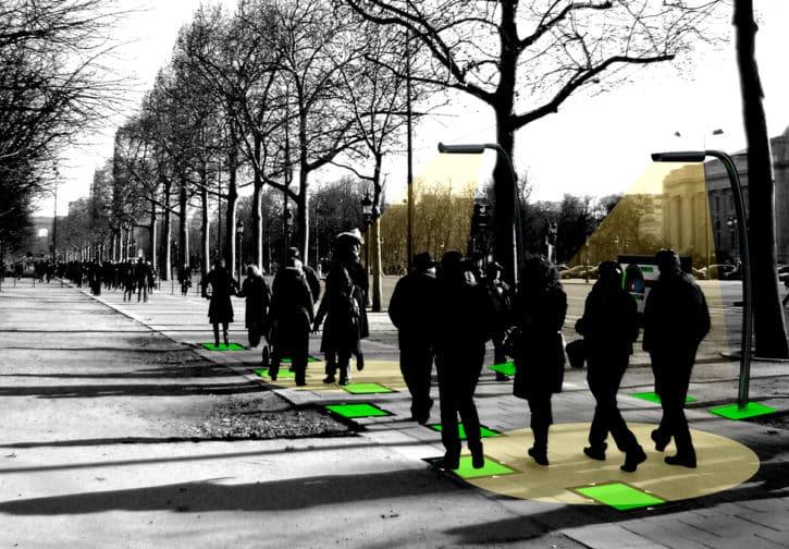 énergie générée par la marche
