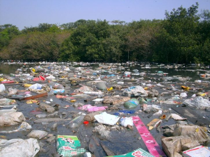 7eme continent, route en plastique et pollution