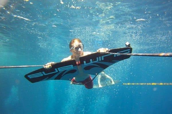 voler dans l'eau avec subwing