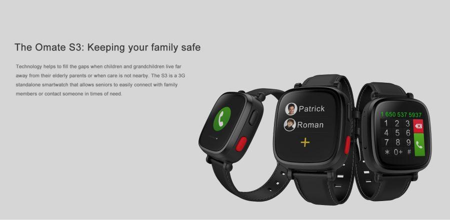 Smartwatch Wherecom s3